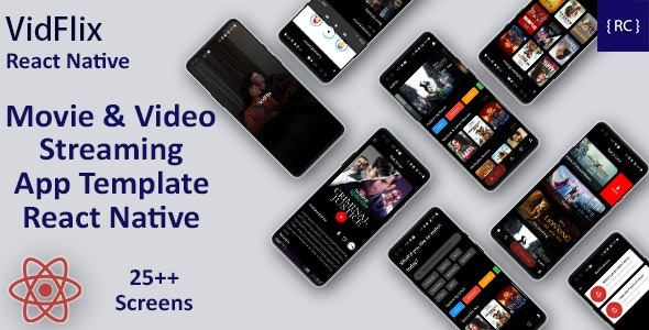 Movie Series Video Streaming Android App Template+ Video Streaming iOS App Template in React Native - CodeCanyon Item for Sale