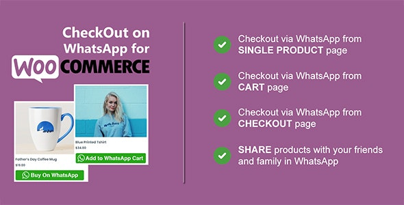 Checkout on WhatsApp for WooCommerce - CodeCanyon Item for Sale