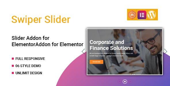 Swiper Slider Widget for Elementor