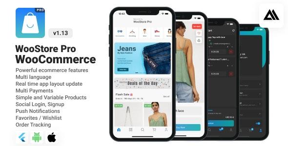 WooStore Pro WooCommerce v1.12.0 – Full Flutter E-commerce App