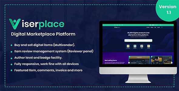 ViserPlace v1.1 – Digital Marketplace Platform – nulled