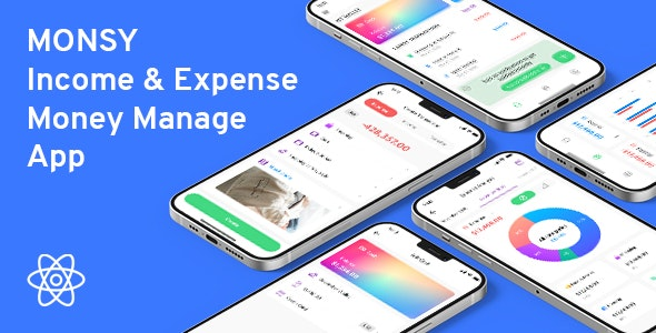 Monsy - Money Manage React Native Full Application - CodeCanyon Item for Sale