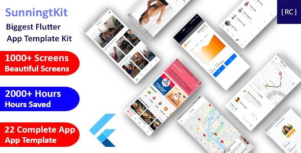 StunningKit - Biggest Flutter App Template Kit (22 App Template)   Flutter UI Kit