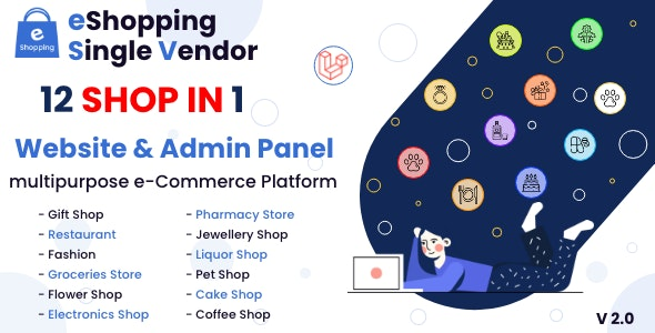 eShopping   Single Vendor Multi Purpose eCommerce System - Laravel Website - CodeCanyon Item for Sale