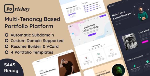 Porichoy - Multitenancy Based Portfolio Builder Platform (SAAS)