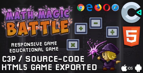 Math Magic Battle - Educational Game (HTML5 / Construct 3) - CodeCanyon Item for Sale