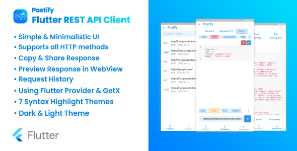Postify - Flutter REST API Client
