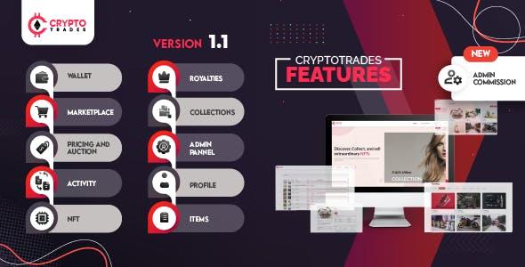 Crypto Trades - Opensea Clone using ERC721