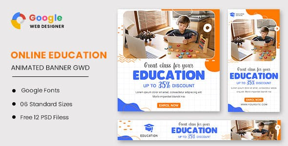 Education Animated Banner Google Web Designer
