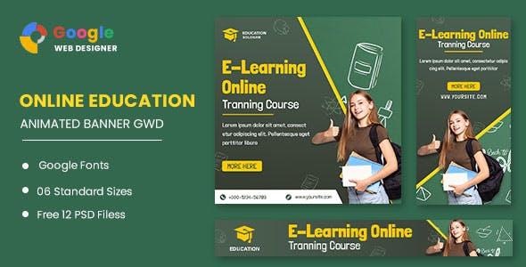 Education Learning Animated Banner Google Web Designer