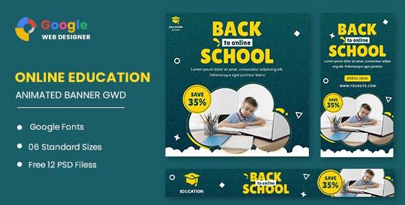 Back To School Animated Banner Google Web Designer