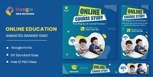 Online Course Study HTML5 Banner Ads GWD