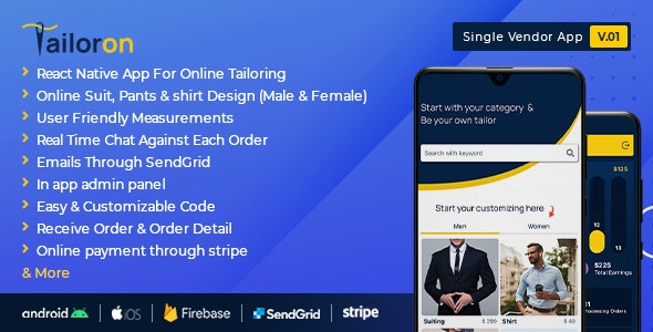 Tailoron - Online tailors and stitching store - CodeCanyon Item for Sale