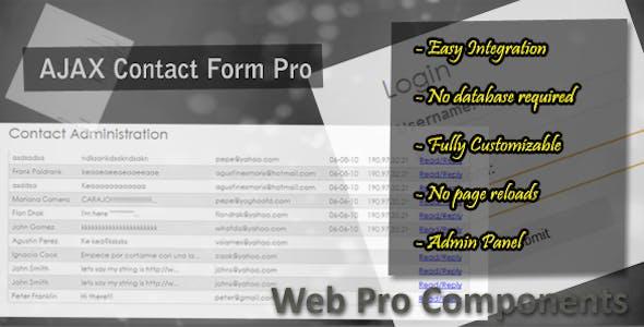 AJAX Contact Form Pro + AJAX Admin Panel