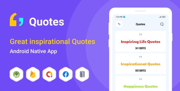 Great inspirational Quotes - Android (Kotlin)