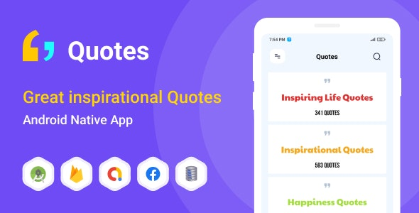 Great inspirational Quotes - Android (Kotlin) - CodeCanyon Item for Sale