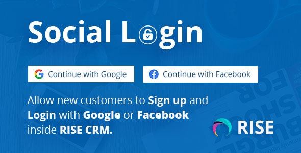 Social Login for RISE CRM - CodeCanyon Item for Sale
