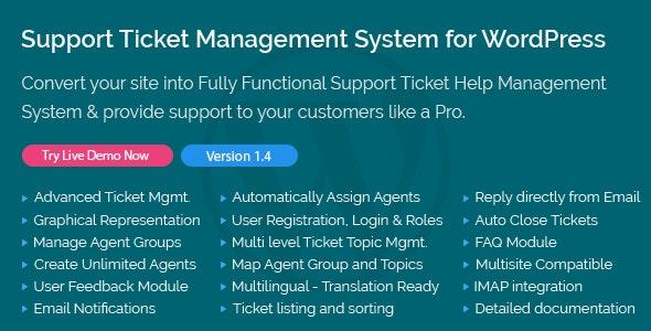 Support Ticket Management System for WordPress v1.4