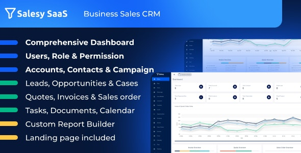 Salesy SaaS - Business Sales CRM - CodeCanyon Item for Sale