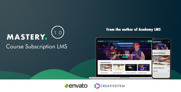 Mastery Lms - Course Subscription System - CodeCanyon Item for Sale