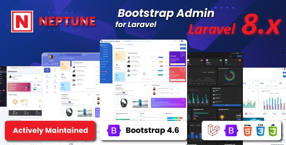 Neptune Laravel Admin UI Template - CodeCanyon Item for Sale