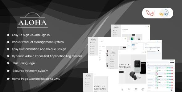 Aloha - eCommerce CMS for Electronics Gadgets