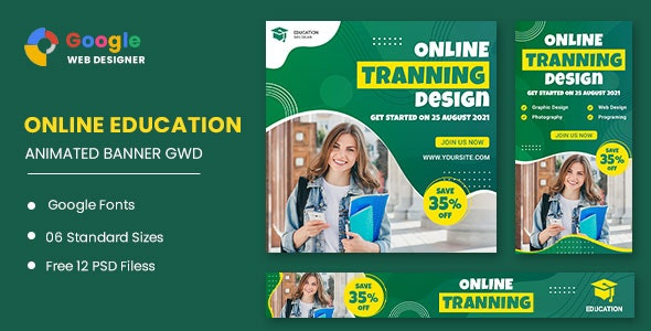 Online Course Study HTML5 Banner Ads GWD - CodeCanyon Item for Sale
