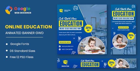 Education Study HTML5 Banner Ads GWD