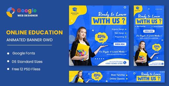 Education Online HTML5 Banner Ads GWD