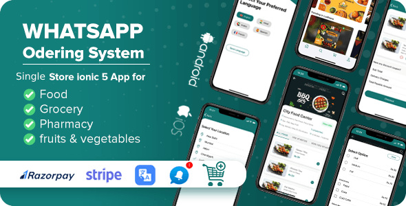 Whatsapp Ordering - Multi Purpose Single Store ionic 5 App Complete solution with Laravel Backend - CodeCanyon Item for Sale