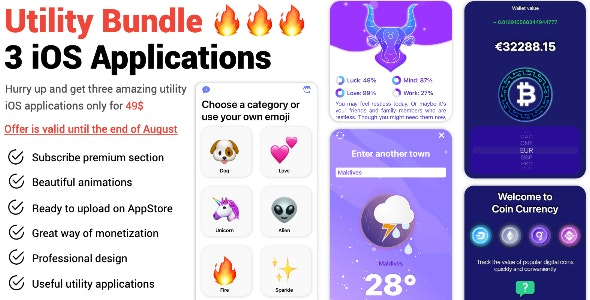 Utility Bundle (3 IOS Applications) - CodeCanyon Item for Sale