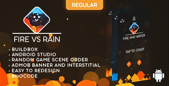 Fire and Water (REGULAR) - ANDROID - IOS - BUILDBOX CLASSIC game - CodeCanyon Item for Sale
