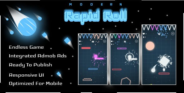 Rapid Roll - Complete Unity Game