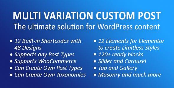 MVCP: Multi Variation Custom Post WordPress Plugin