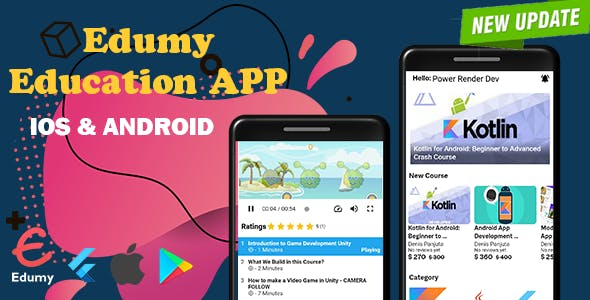 Edumy - Education App, Quiz, Badge with Admin Panel