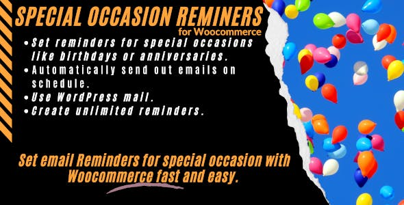 WooCommerce Special Occasion Reminder