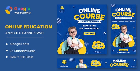 Online Course HTML5 Banner Ads GWD - CodeCanyon Item for Sale