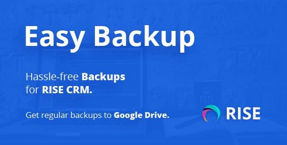 Easy Backup - Regular backups for RISE CRM - CodeCanyon Item for Sale