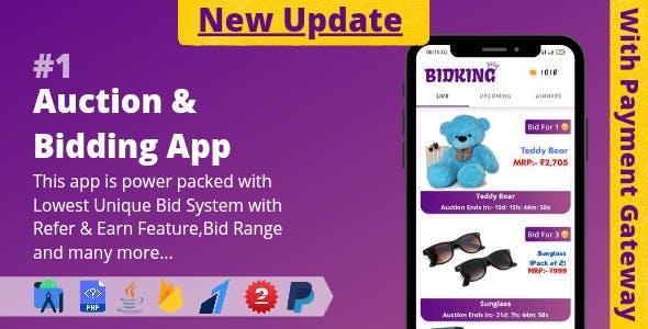 Auction & Bidding App    Lowest Unique Bid System with Admin Panel (v2.0)