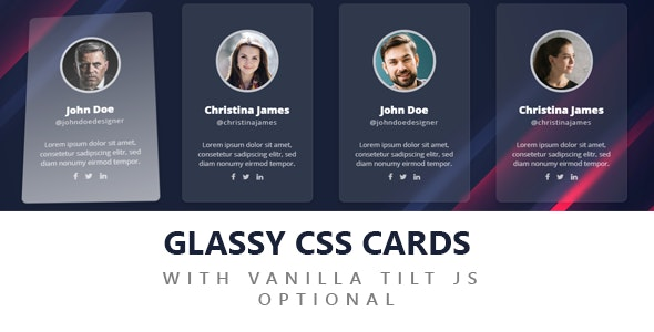 GLASSY CSS CARDS - CodeCanyon Item for Sale