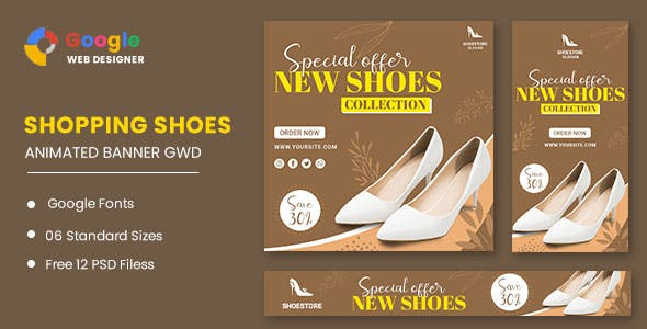Women's Shoes HTML5 Banner Ads GWD
