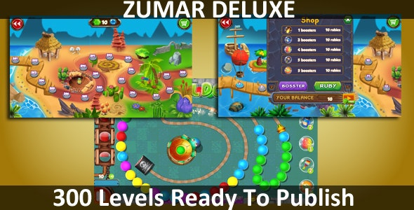 Zumar Deluxe Unity Complete Project (300 Levels) - CodeCanyon Item for Sale