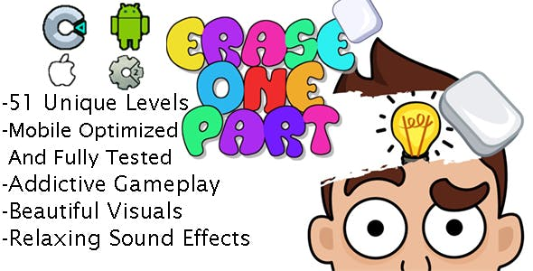 Erase One Part ( Construct 2+Construct 3+HTML5 )