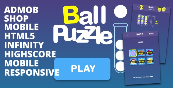 Ball Puzzle - HTML5, mobile, AdMob, shop, c3p, touch/mouse - CodeCanyon Item for Sale