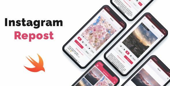 Instagram Repost - iOS App. Repost photos & videos from Instagram