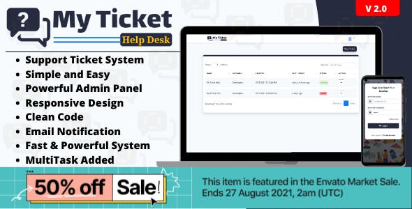 My Ticket HelpDesk Support System | Ticket System