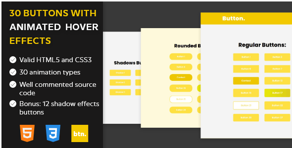 Animated Hover Effects Buttons with CSS3