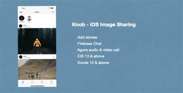 Knob - iOS Image Sharing Social Network App - CodeCanyon Item for Sale