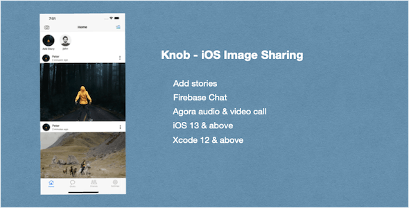 Knob - iOS Image Sharing Social Network App