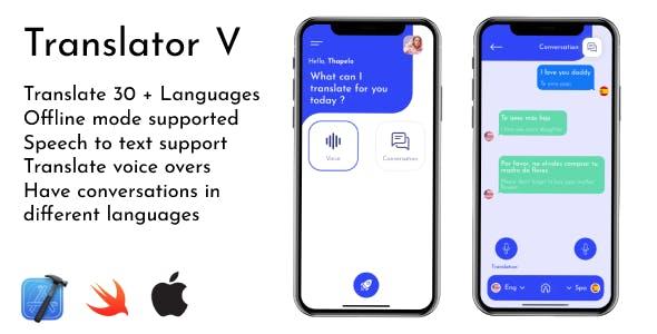 Translator V | iOS Voice and Speech to Text Translator App